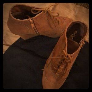 Charlotte Russe Suede wedgies: A kick.